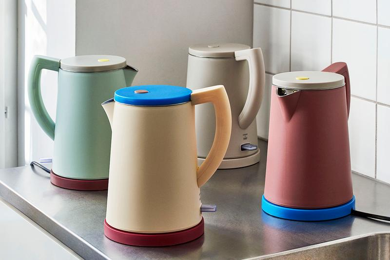 HAY Electric Kettle George Sowden Kitchen Appliances Denmark Danish Design Home Scandinavian Pastel Yellow Green Pink Blue Grey Gray