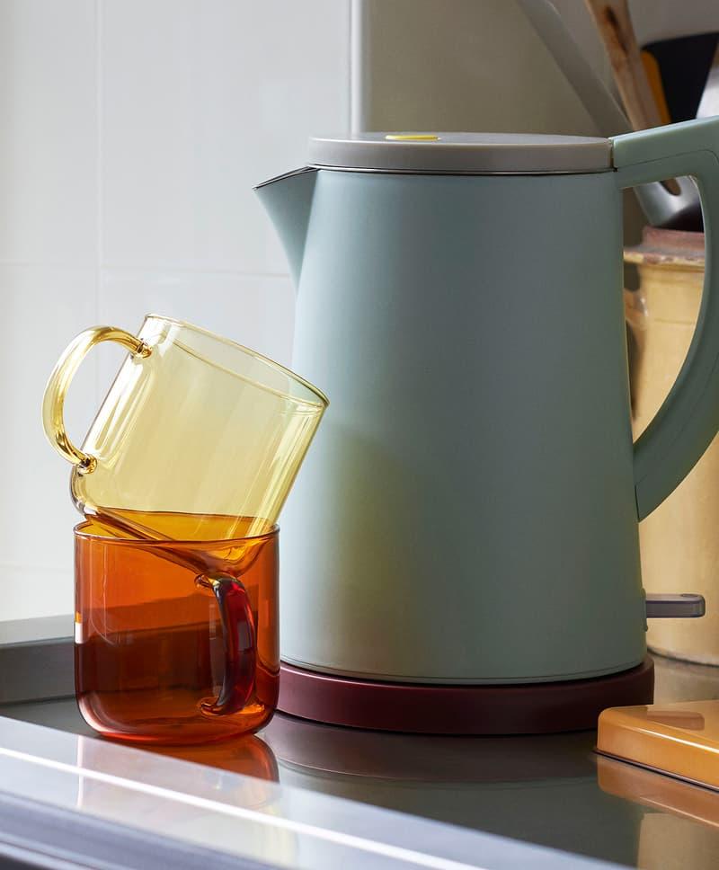 HAY Glass Cups Mugs Electric Kettle George Sowden Kitchen Appliances Denmark Danish Design Home Scandinavian Pastel Green
