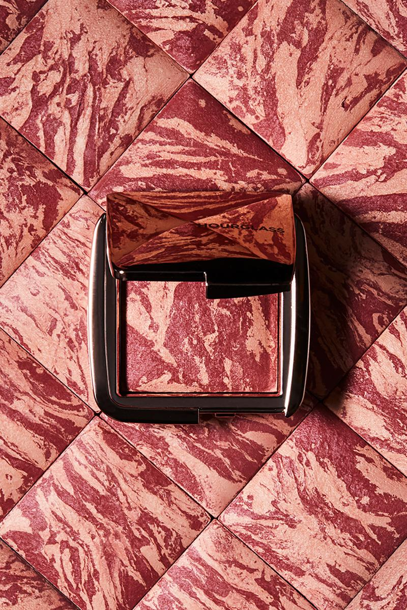 hourglass cosmetics at night collection ambient lighting blush confession ultra slim high intensity lipstick lip treatment oil makeup