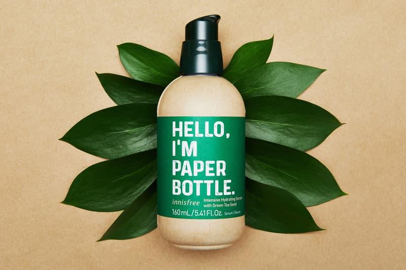 innisfree launches green tea serum new paper edition bottle