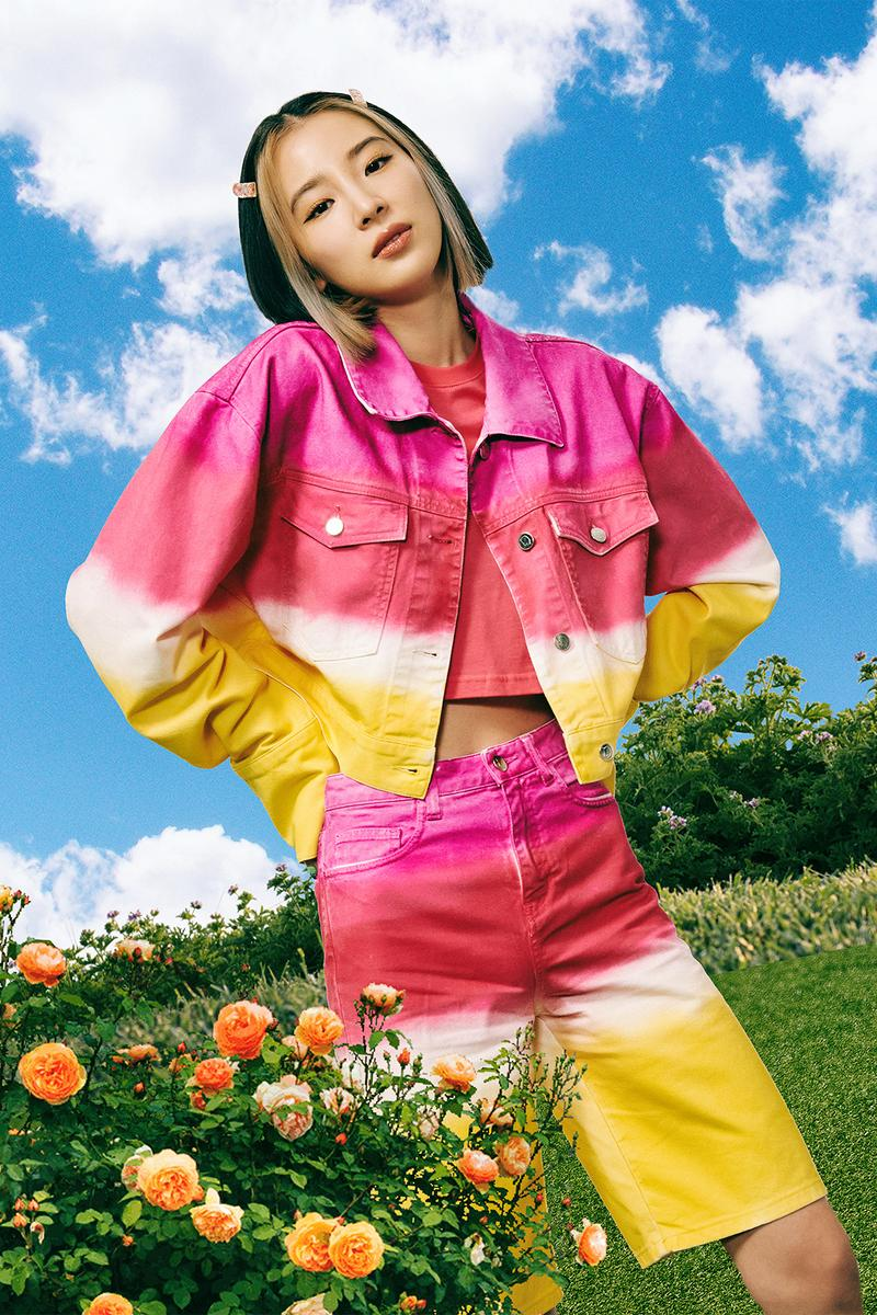irene kim ireneisgood label spring summer 2021 collection denim jackets hoodies outerwear knitwear pastel tie dye