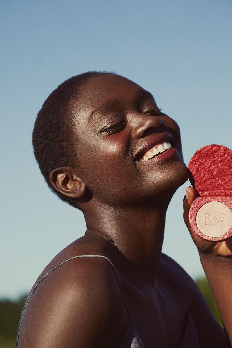 kjaer weis lightslip powder highlighter beam luminous iconic red edition sustainable clean beauty makeup