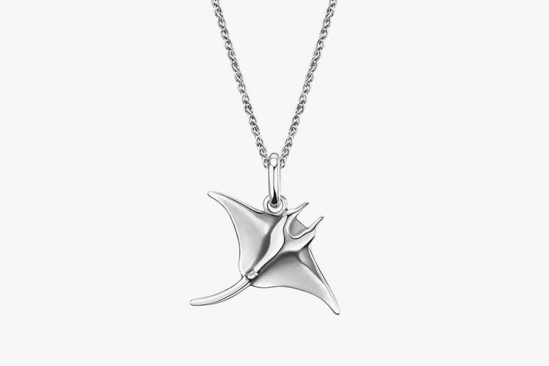 lexie liu collec collaboration jewelry necklace manta ray silver accessories