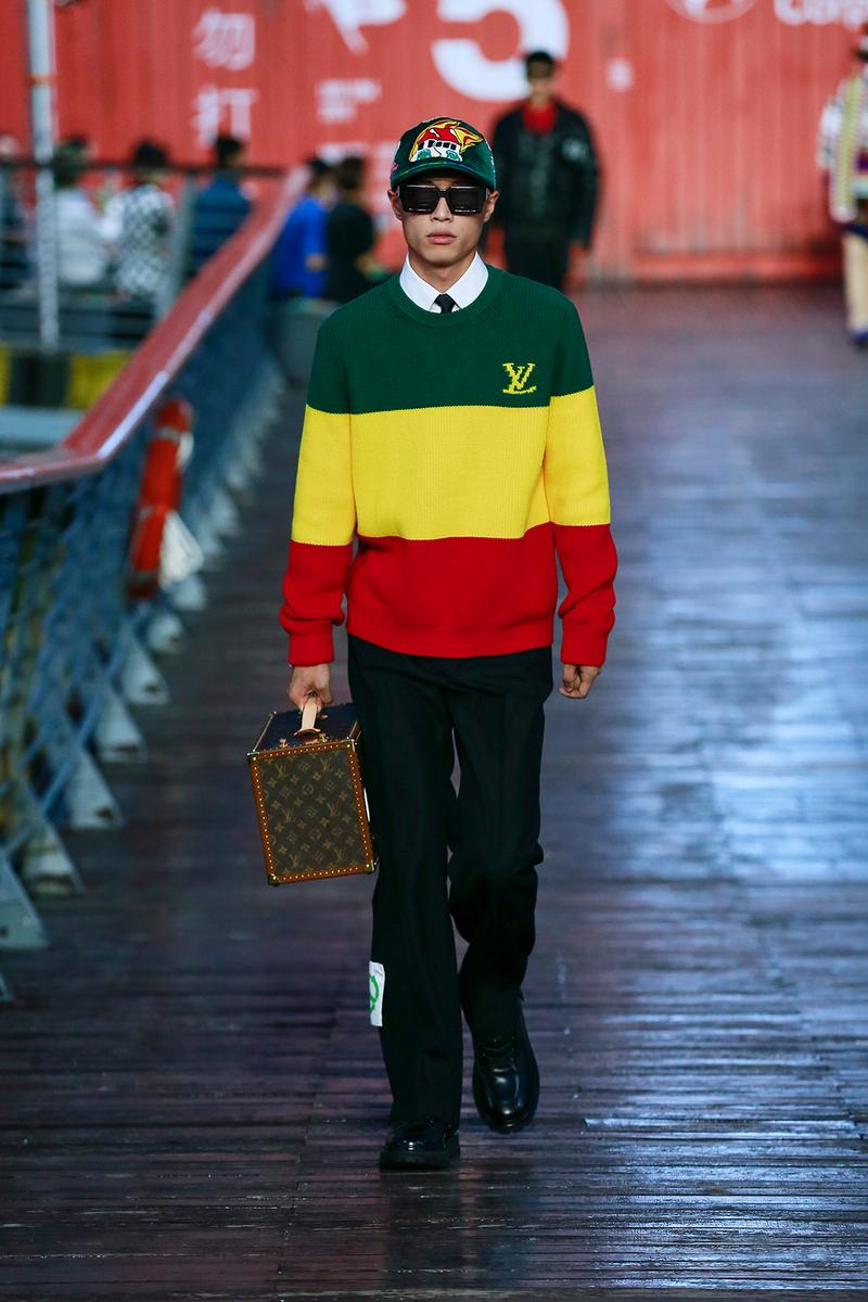 Louis Vuitton Virgil Abloh Spring/Summer 2021 Mens Collection Show Shanghai Coat Green Scorpion