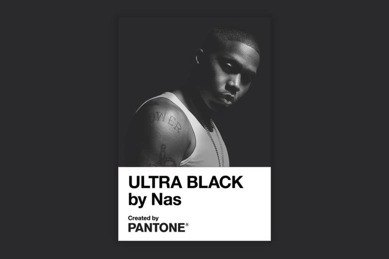 pantone nas ultra black collaboration color merch t-shirts poster coaster release