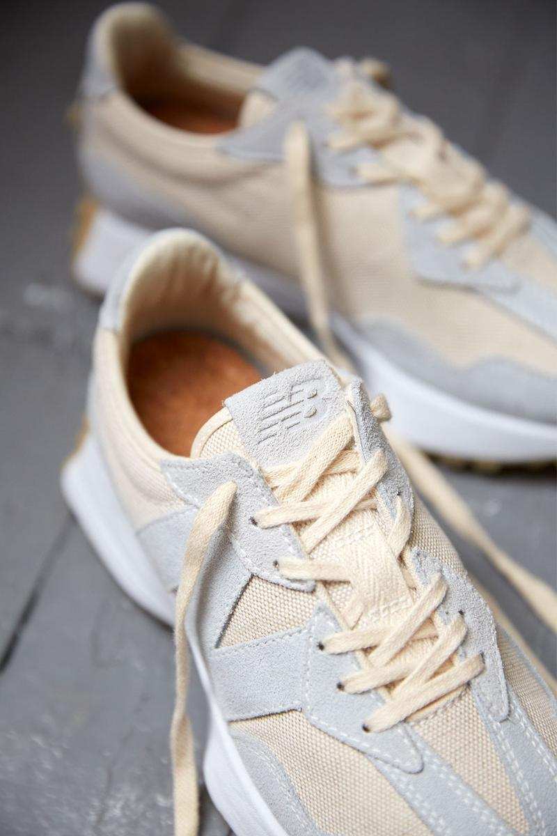 new balance 327 undyed sustainable eco-friendly womens sneakers release
