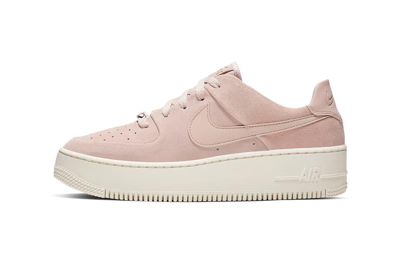 nike air force 1 sage low womens sneakers pastel pink white shoes sneakerhead footwear