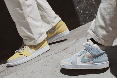 Nike Introduces the Air Jordan 1 Mid SE in Two Summer Pastel Colorways