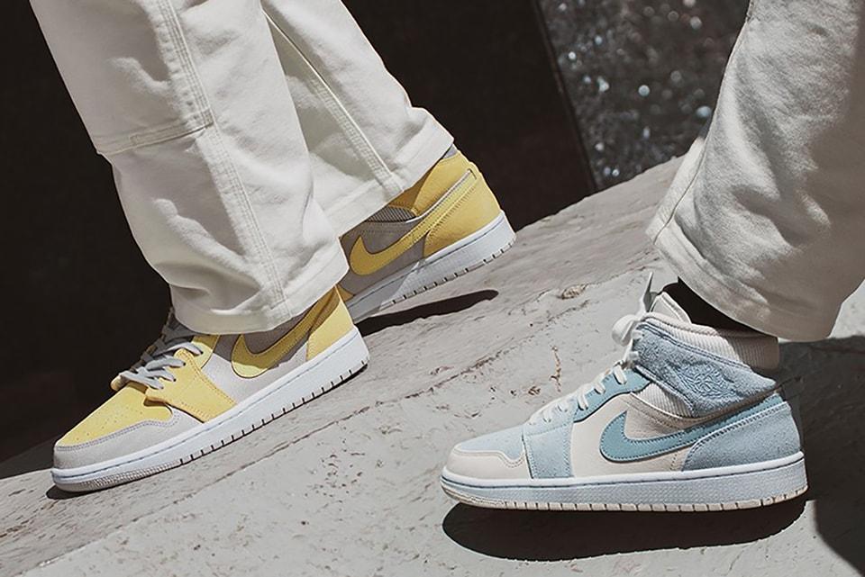 sabio Bombardeo oportunidad  Nike Air Jordan 1 Mid SE Pastel Blue and Yellow | HYPEBAE