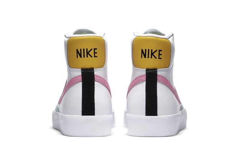 "Nike Blazer Mid ""Glacier Ice/Pink Glow"" Sneaker Release Trainer Pastel Colorful"