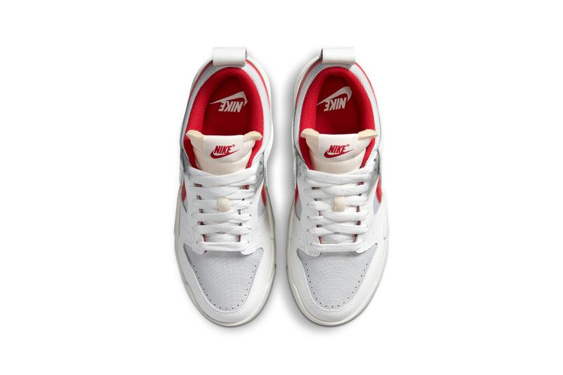 nike dunk low disrupt womens sneakers white red footwear sneakerhead shoes