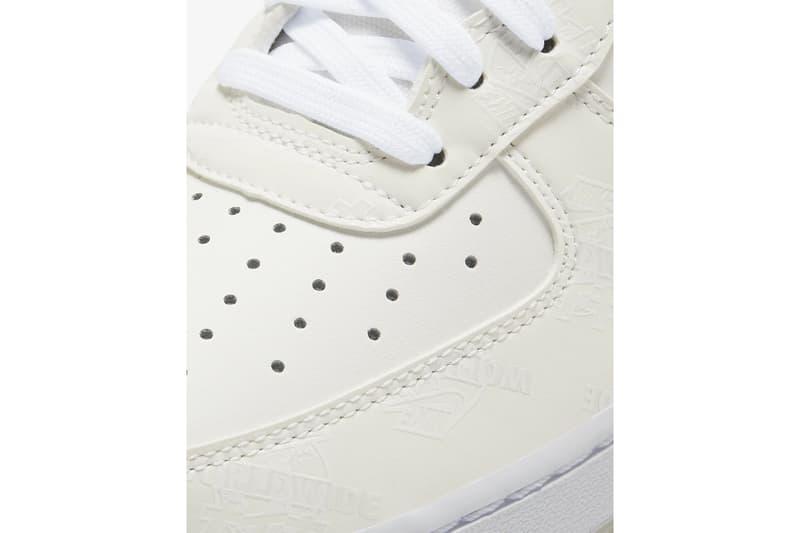 nike japan gold white air force 1 07 lv8 worldwide international leather platinum white