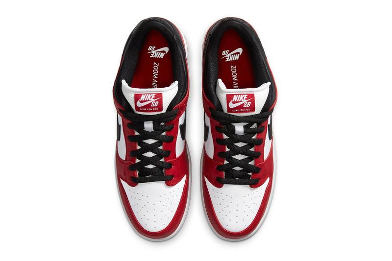 nike sb dunk low chicago red black white release info end sneakers air jordan 1