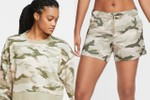 Picture of Nike Covers Its Training Crewneck and Shorts Set in a Classic Camo Print