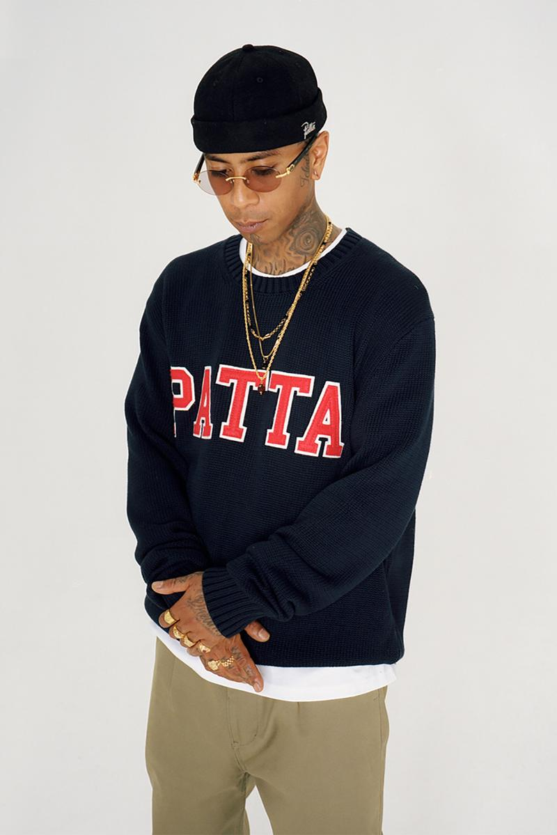 patta fall winter collection outerwear knitwear sweaters jackets hoodies shirts pants