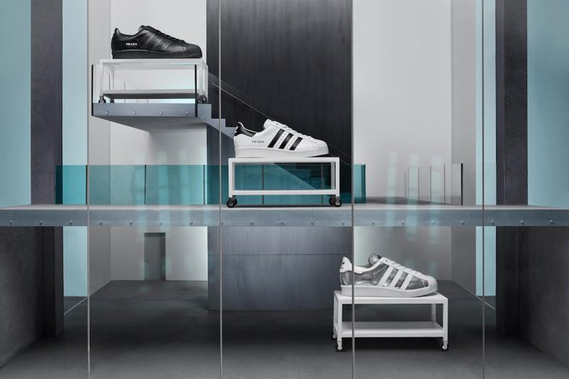 prada adidas originals superstar release info launch date black white silver official look
