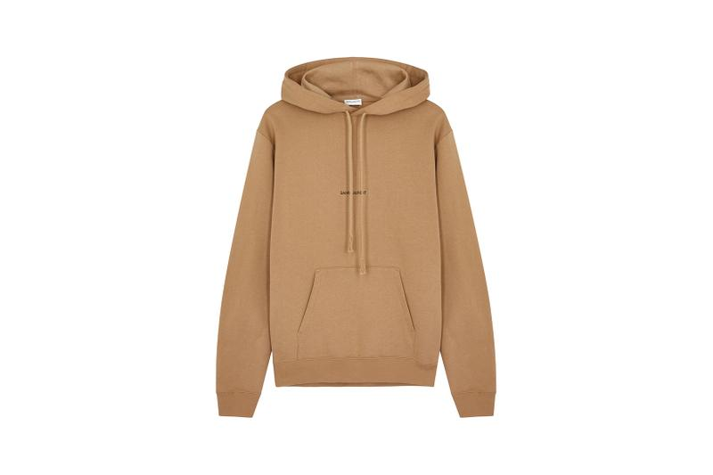 Saint Laurent Logo Hoodie Sweatshirt Brown Camel