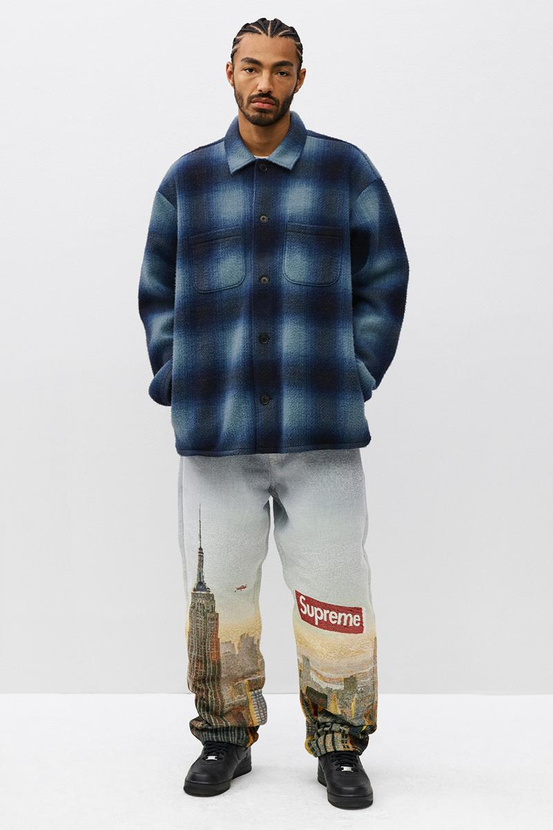supreme fall winter collection the smurfs outerwear jackets pants pink black denim
