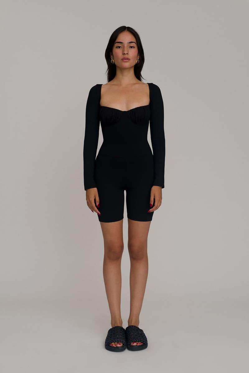Tank Air Romeo Bodysuit Black Long Sleeves Model Lookbook Los Angeles Brand Women Fashion