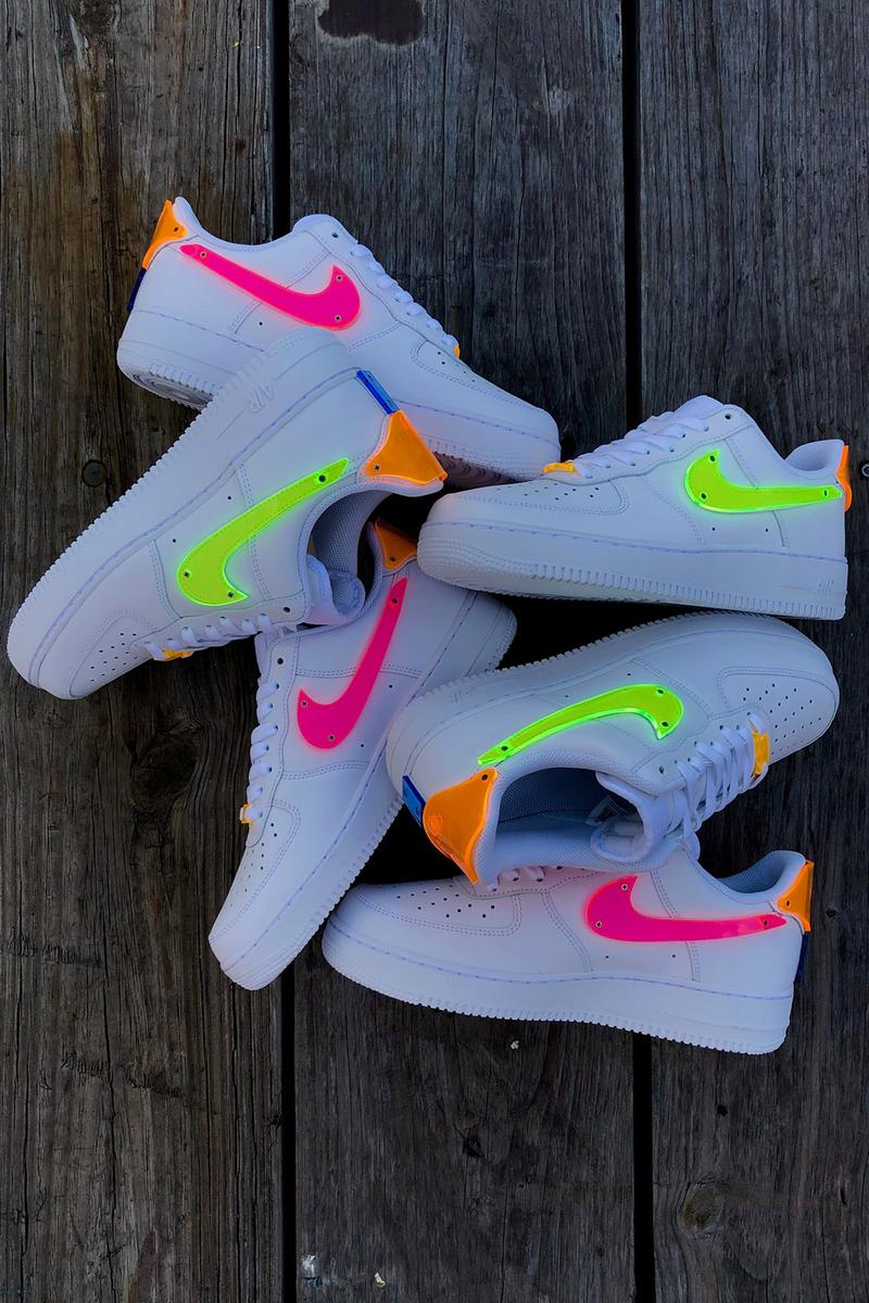 nike air force 1 af1 thermoformed neon multi-color acrylic tbd in process release jennifer lopez sneakers