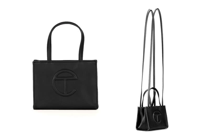 telfar small black bag designer purse mini