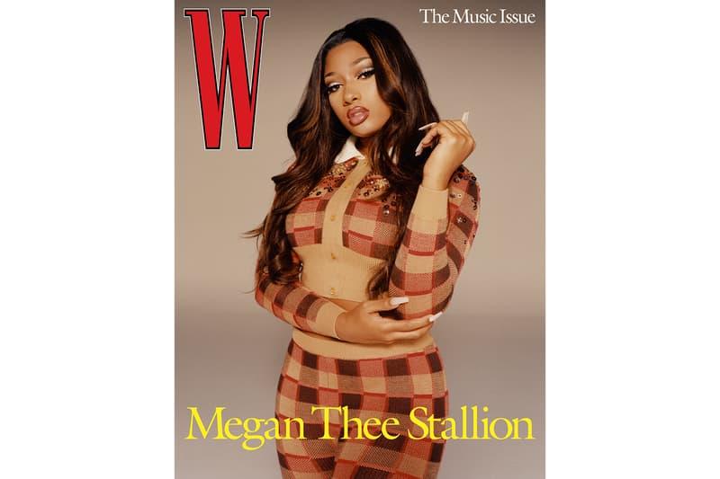 w magazine megan thee stallion dua lipa volume 3 the music issue cover stars