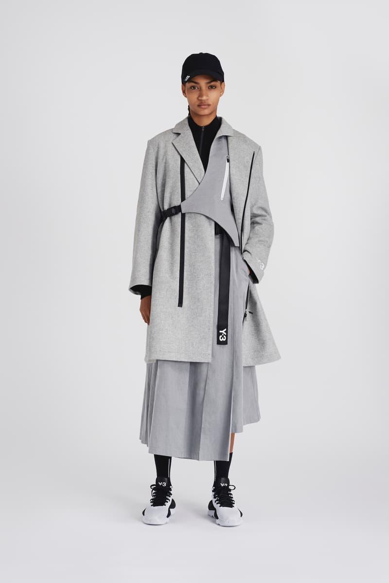 Y-3 Fall/Winter 2020 Collection Chapter 1 Drop Jacket Scarf Printed Beret adidas Yohji Yamamoto