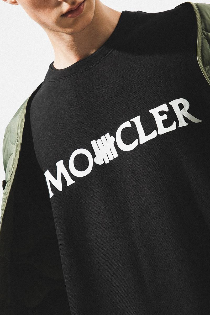 2 Moncler 1952 x UNDEFEATED Collaboration Collection T-Shirt Black