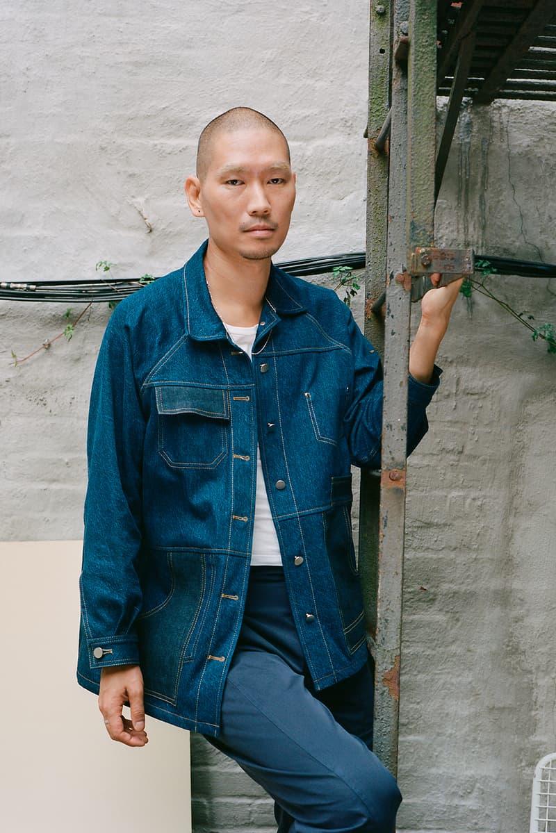 a company collection v blue jeans denim pants shirts jackets lookbook