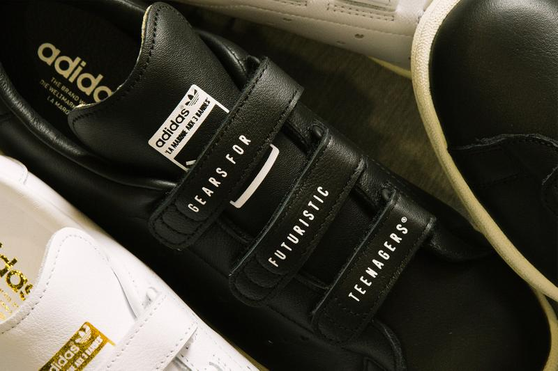 human made adidas originals master velcro straps black white gold hearts nigo release info