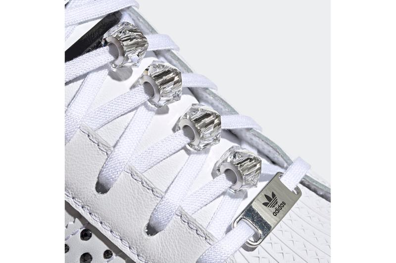 adidas originals swarovski superstar bold shoes womens sneakers white black crystals sneakerhead footwear