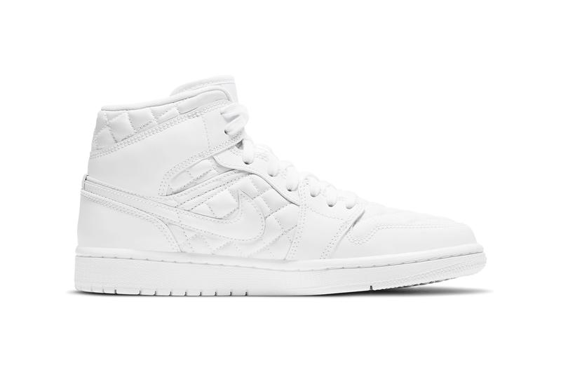 nike air jordan 1 aj1 mid quilted white womens sneakers release price info