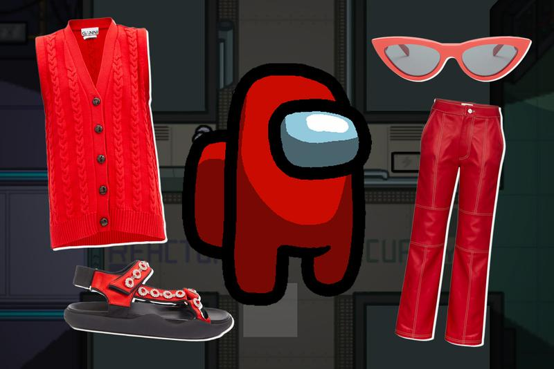 among us red avatar ganni le specs christopher kane kirin