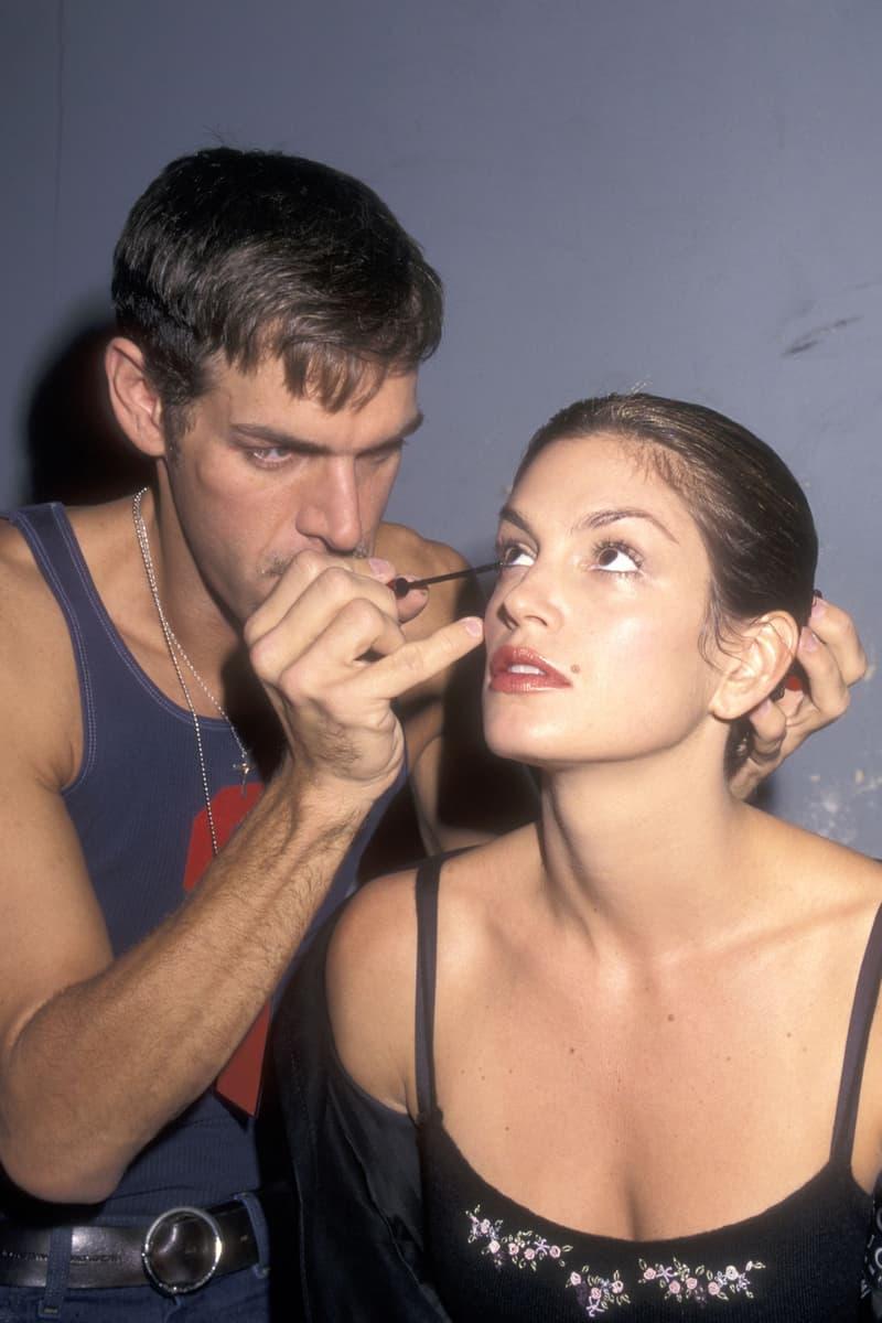 Cindy Crawford Kevyn Aucoin Todd Oldham New York Fashion Week 1998 Backstage
