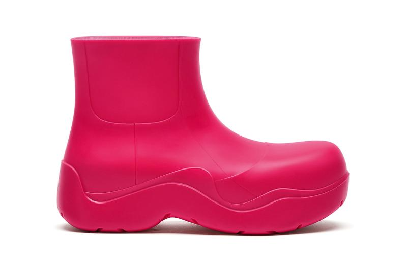 bottega veneta puddle boot green pink sustainable biodegradable footwear shoes