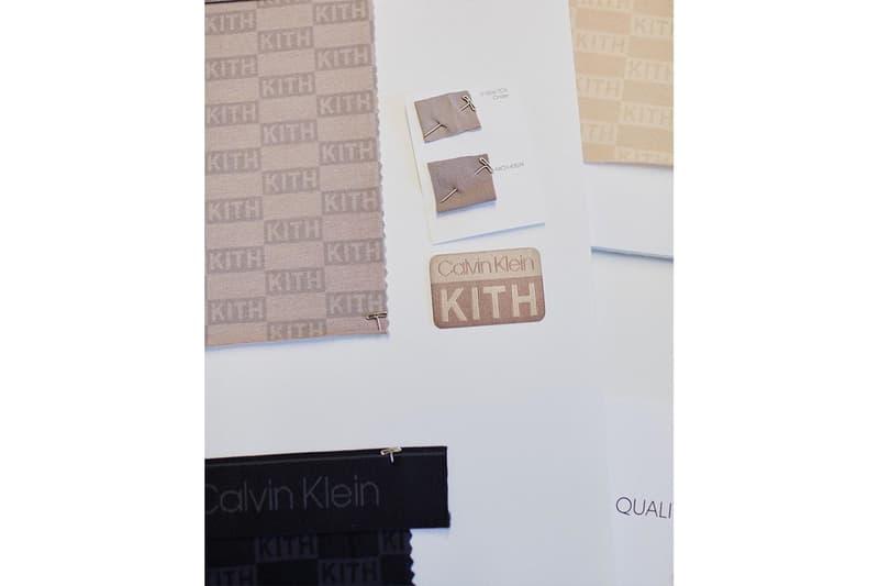 calvin klein kith gigi hadid collaboration first look ronnie fieg monday program sweatshirts sports bras release info