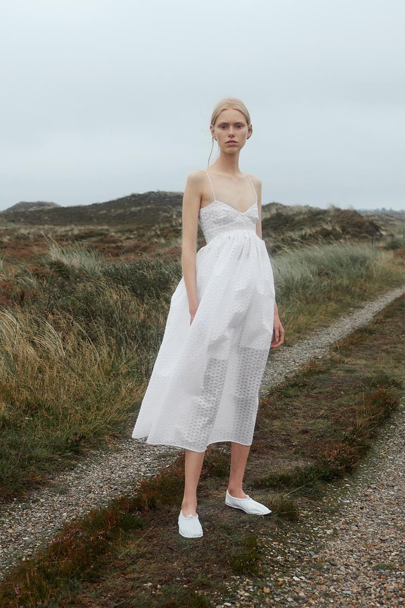 cecilie bahnsen spring summer 2021 collection paris fashion week pfw lookbook sustainable copenhagen