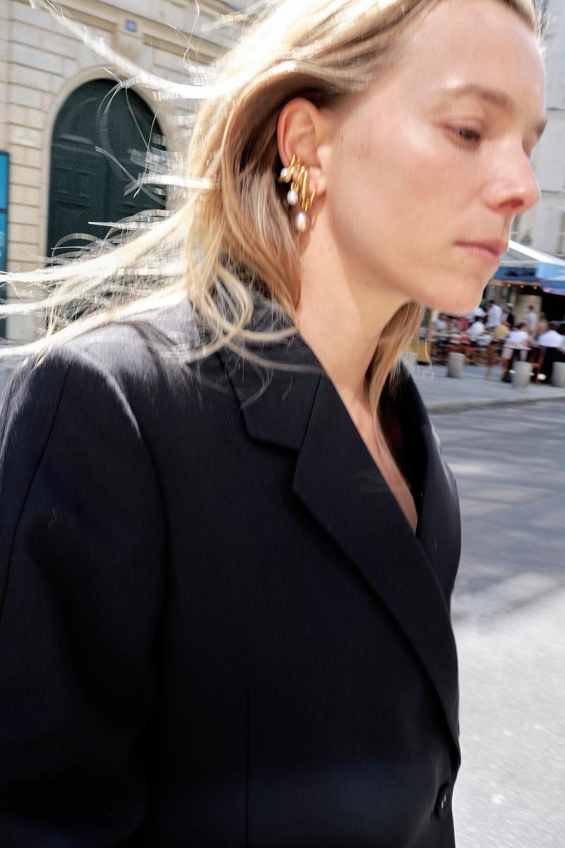 Charlotte Chesnais Earrings Jewelry Gold Pearl Capsule Collection MATCHESFASHION