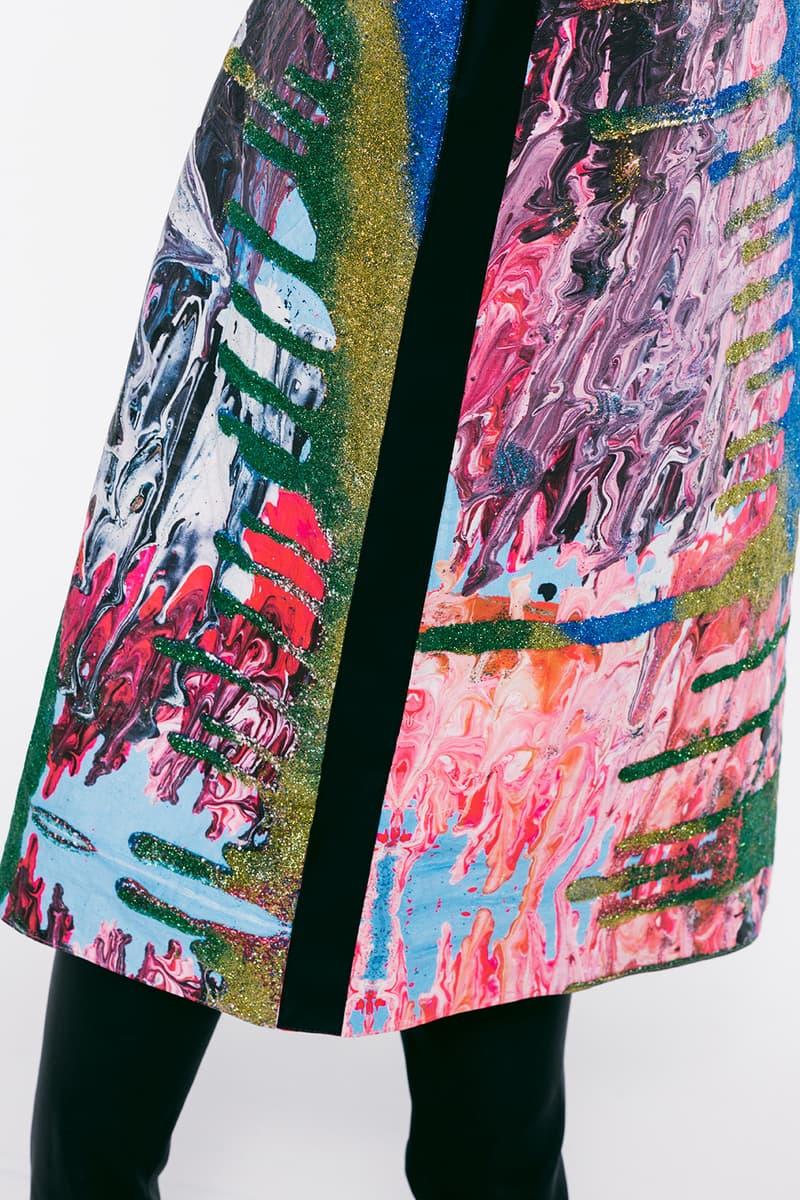 christopher kane spring summer 2021 collection london fashion week ldw lookbook art paintings