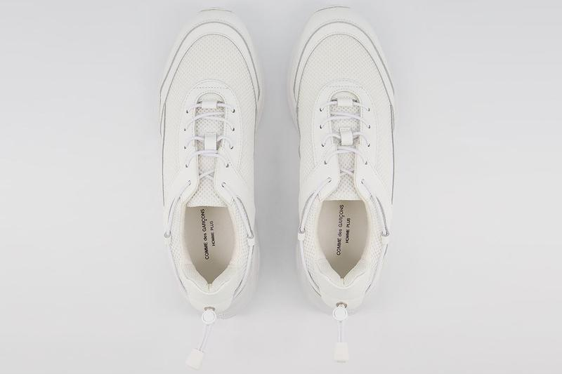 comme des garcons homme plus cdg first in-house sneakers cross trainers chunky white black