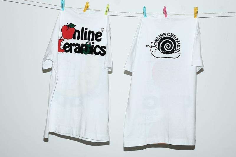 comme des garcons cdg online ceramics t-shirts collaboration halloween moon turtle pumpkin release