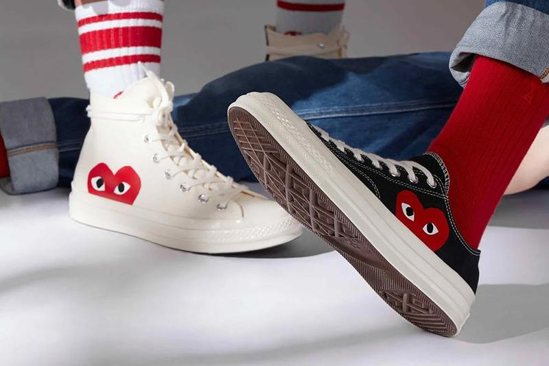 COMME des GARÇONS PLAY Converse Chuck 70 Red Eyes Heart White Black