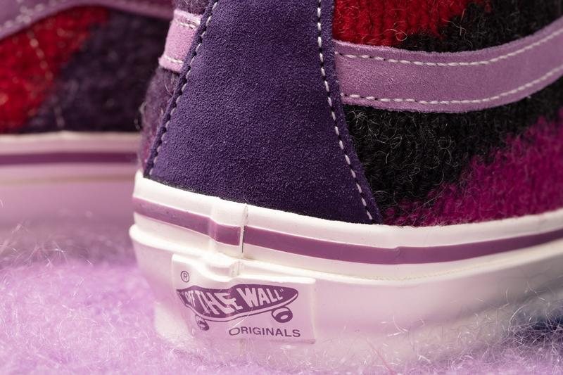 vault by vans concepts sk8-hi slip-on mohair kings road vivienne westwood fall winter sneakers pink purple red release