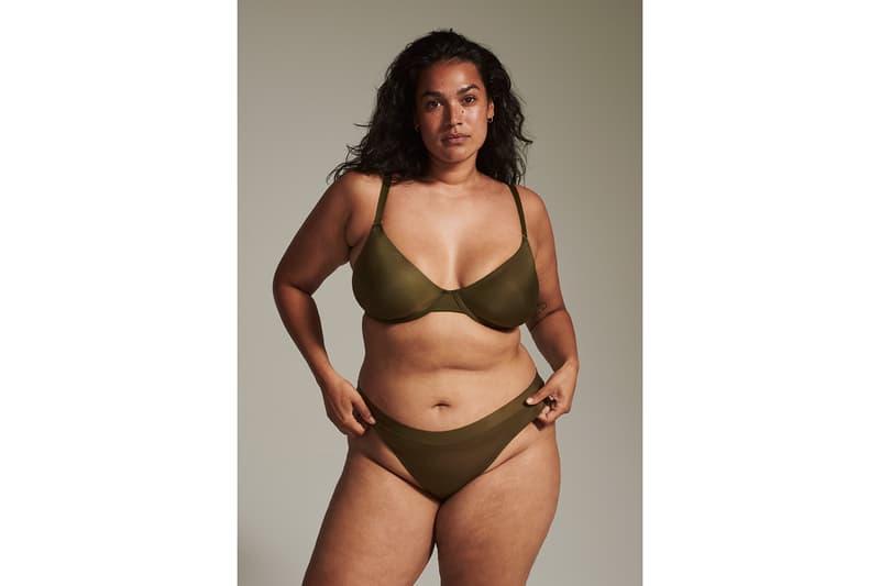 cuup lingerie bras underwear moss green bras body positive inclusive sheer mesh thongs highwaist