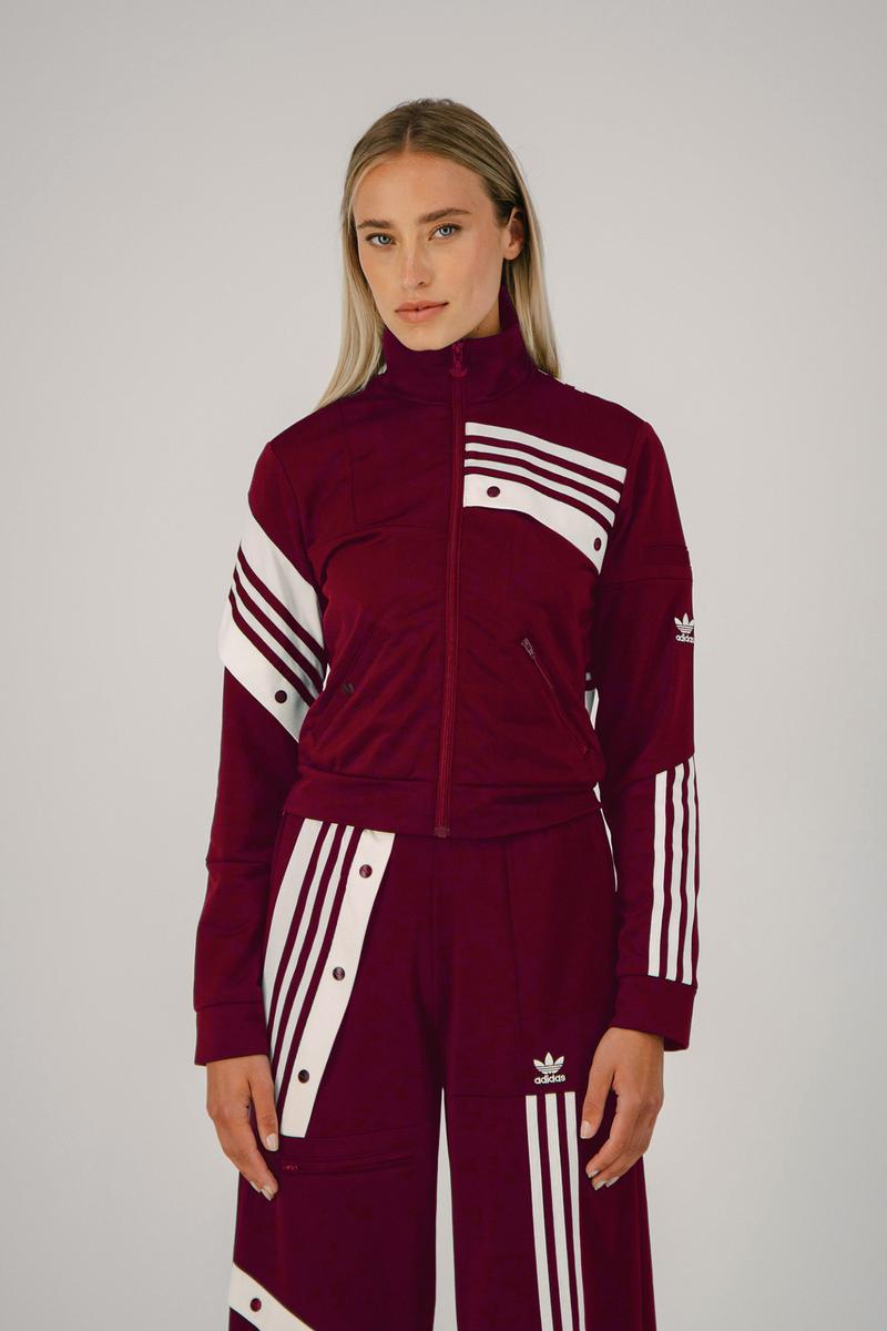 Daniëlle Cathari adidas Originals Tracksuit Track Jacket Pants Power Berry Burgundy Fall Winter 2020 FW20
