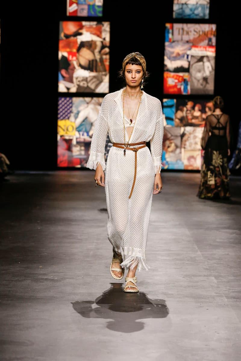 dior spring summer 2021 womenswear collection protester extinction rebellion dresses jackets maria grazia chiuri paris fashion week