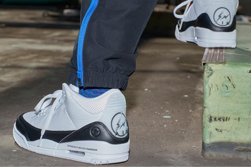fragment design jordan brand nike air 3 35 cadence collaboration sneakers hoodies sweatpants release info
