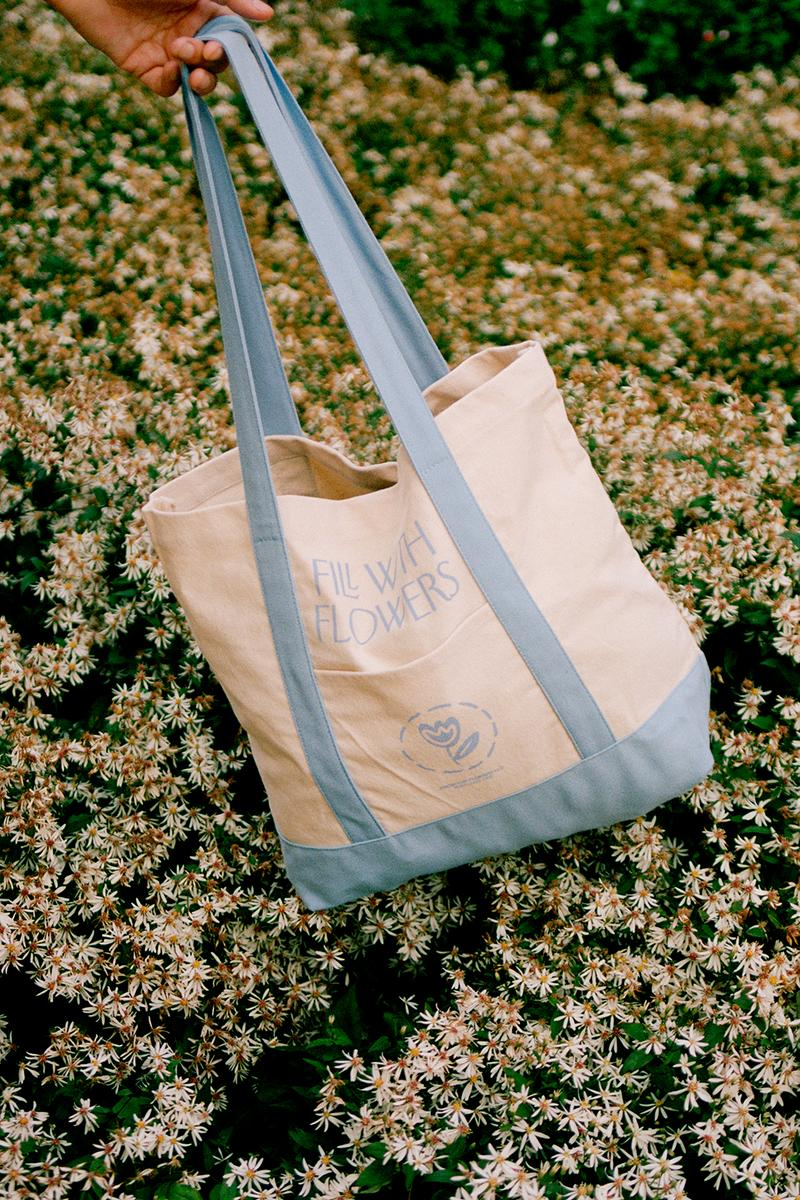 fresh cut flowers fall winter collection tees tote bags lookbook