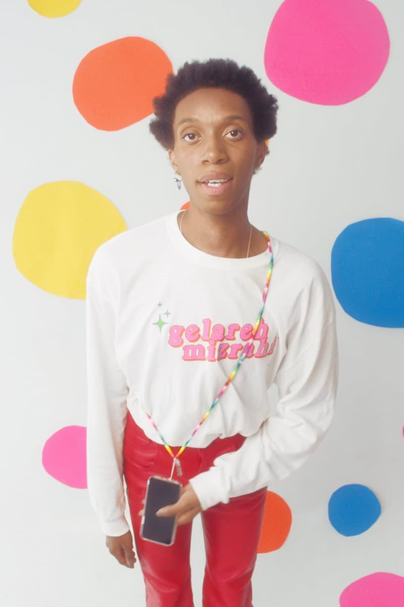 Gelareh Mizrahi Face Mask Strap Holder Rainbow Necklace