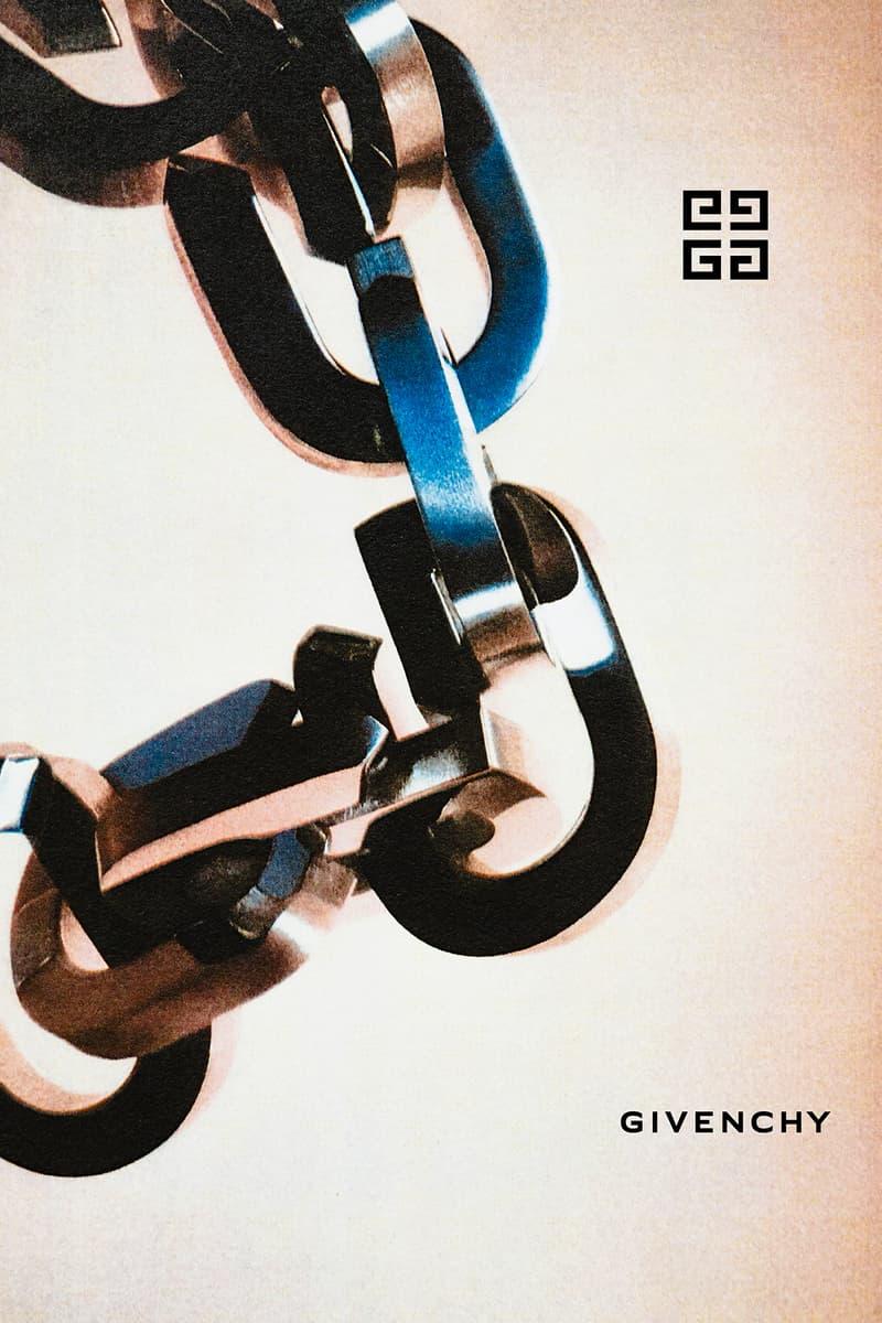 givenchy matthew williams playboi carti first visuals campaigns nick knight teaser 4g logo hardware chains padlocks